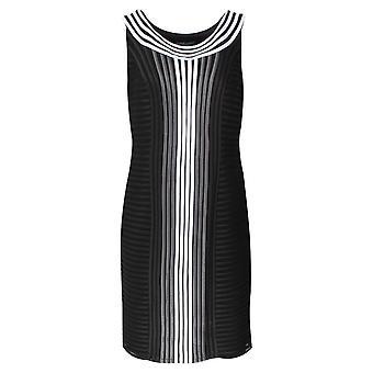 Frank Lyman Black & White Sleeveless Ribbon Dress