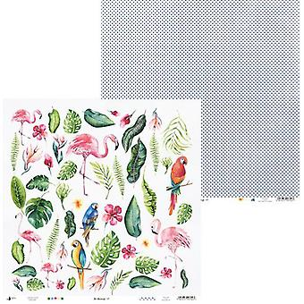 Piatek13 - Paper Let's flamingle 07 P13-306 12x12