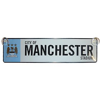 Manchester City FC Official Football Gift 3D Window Street Sign