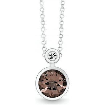 QUINN - Necklace - Silver - Gemstone - Smoky Quartz - Wess. (H) - 27393932
