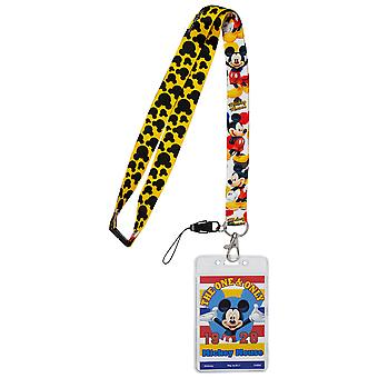 Disney Mickey Mouse Lanyard with Card Holder