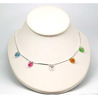 TOC 925 Silver Necklace Heart Made With Swarovski Crystals