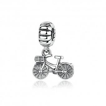 Sterling Silver Pendant Charm Bicycle - 5248