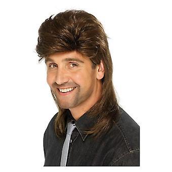 長髪をウィッグします。