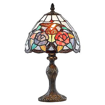 Humming Bird Tiffany Lamp with Colourful Stained Glass Shade