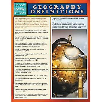 Geography Definitions Speedy Study Guide by Publishing LLC & Speedy