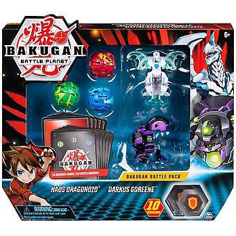 Bakugan Battle Pack 5-Pack Haos Dragonoid & Darkus Goreene