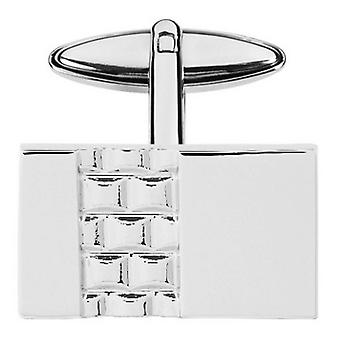 Orton West Engraved Rectangle Cufflinks - Silver