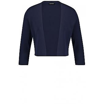 Taifun Navy Fine Knit Jacket