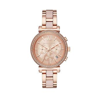 Michal Kors MK6560 Ladies Sofie Chronograph Watch - Rose Gold