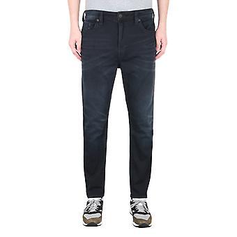 True Religion Logan Tapered Fit Black Jeans