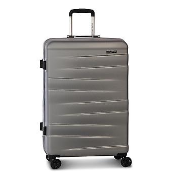Fabrizio Worldpack Montreal Trolley L, 4 roues, 75 cm, 95 L, argent