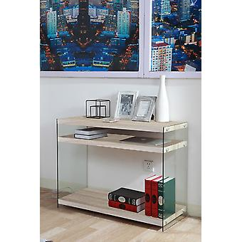 Libra Color Wood console, Transparent in MDF, Glass 100x39.5x75 cm