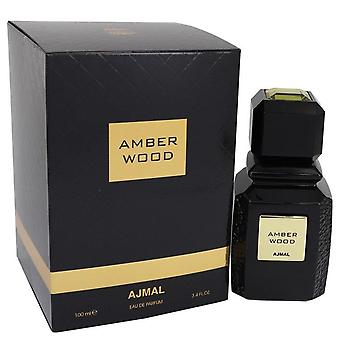Ajmal Amber Wood Eau De Parfum Spray (Unisex) By Ajmal 3.4 oz Eau De Parfum Spray