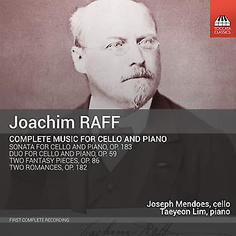 Raff / Mendoes / Lim - Raff / Mendoes / Lim: Complete Music for Cello & Piano [CD] USA import