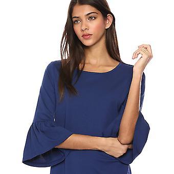 Lark & Ro Women's Bell Sleeve Knit Dress, Cobalt,Large