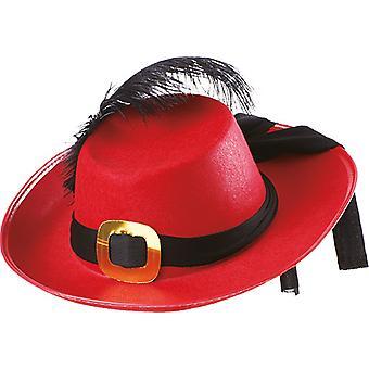 Chapeau de mousquetaire mens accessoires Red Hat Halloween Carnaval