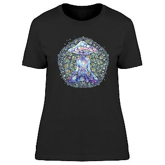 Meditating Mushroom Person Tee Women's -Image by Shutterstock