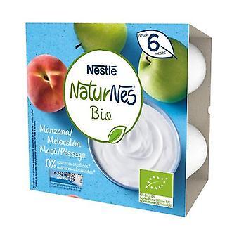 Nestlé Naturnes BIO Apple and Peach Dairy Dessert 4 units