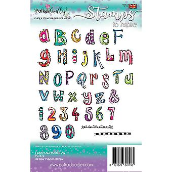 Polkadoodles Funky Alphabet A5 Clear Stamps