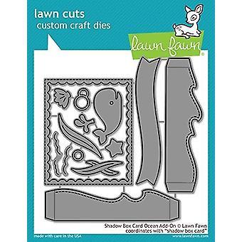 Rasen Fawn Shadow Box Karte Ozean Add-on stirbt