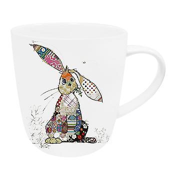 Patchwork Bunny Rabbit Fine China Mug - Boxed Gift