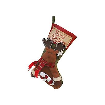 Large Christmas Stockings Elk Hanging Ornament