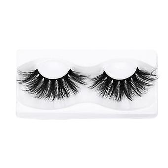 1pair 3d Mink False Eyelashes - 100% Cruelty Free Criss Cross Lashes, Thick