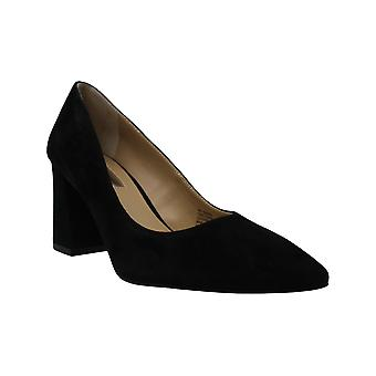 INC International Concepts I35 Bahiral Pointed Toe Pumps, Black Suede, 6.5 US