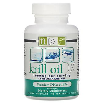 Natural Dynamix (NDX), Krill Oil DX, 1000 mg, 60 Softgels