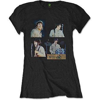 Ladies The Beatles Shea Stadium Shots Officiel Tee T-Shirt Féminin