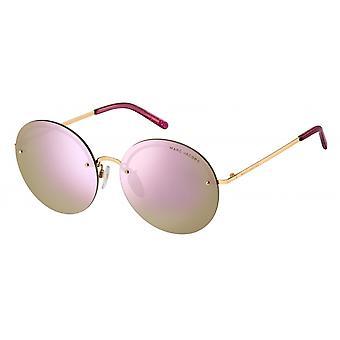 Sunglasses Women's rimless rose gold/pink