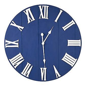 Round Blue Wall Clock