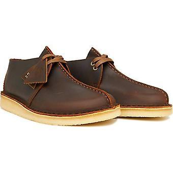 Clarks Originals Leder Wüste Trek Schuhe