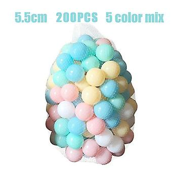 100/200pcs 5.5cm Pool Balls Soft Plastic Ocean Ball For Playpen Colorful Soft Stress Air Juggling Balls Sensory Baby Toy