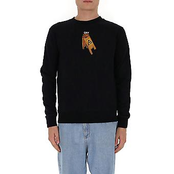 Off-white Omba025f20fle0031010 Männer's schwarze Wolle Pullover