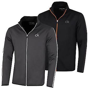 Calvin Klein Mens 2021 Lee Performance Full Zip Golf Sweater