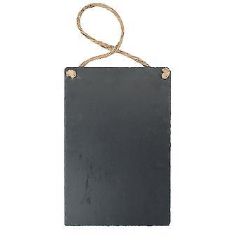 Hängande Skiffer Krita tavla / Meddelande Black Board 300x200mm - Förpackning med 6