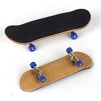 Professional Finger Skateboard Wood Basic Fingerboars With Bearings Wheel Foam Tape Set