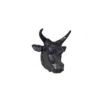 Deco4yourhome Deco. Big Bull Head Silver Antique