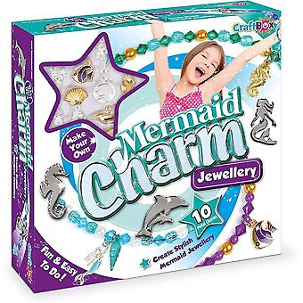 fablab craft in a box mermaid charm jewellery kit for ages 8 and above