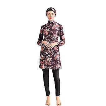 Women Printing Floral Muslim Swimwear Hijab, Muslimah Islamic Swimsuit Surf
