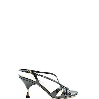 Miu Miu Ezbc057026 Women's Black Patent Leather Sandals