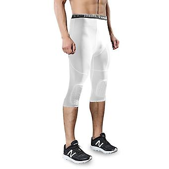 "Men""s Basketball Padded Three-quarter Tights Pants, With Knee Pads"