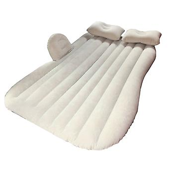 Beige Travel Inflatable Car Air Bed Mattress Rear Seat Cushion Fitting