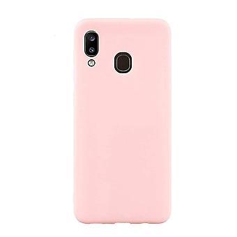 Rosa Samsung Galaxy A20 mål