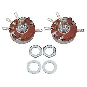 2pcs WTH118 Single Turn Rotary Taper Carbon Potentiometer 470 ohm 2W 1A