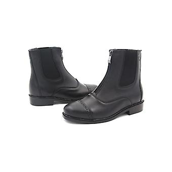 Horse Riding Equestrian Boots - Full Leather High Quality Zipper Shoes
