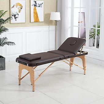 Table  Adjustable Massage Bed Fold Couch Portable Salon Alloy With Square