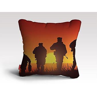 Navy seal szkolenia sylwetka poduszka / poduszka